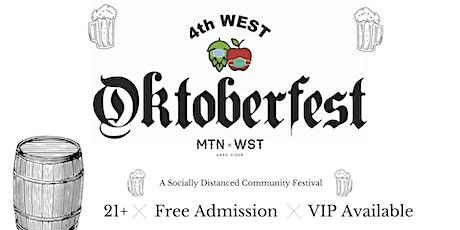 4th West Oktoberfest VIP Experience Sunday Sept. 27th tickets