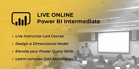 Intermediate Power BI, Data Modeling and DAX - Virtual 2 Day tickets