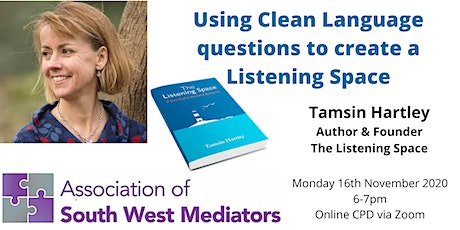 Online CPD: Using Clean Language questions to create a Listening Space tickets