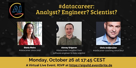 #datacareer - Analyst? Engineer? Scientist? Roles  in industry and startups tickets