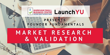 Founder Fundamentals: Market Research & Validation tickets