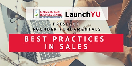Founder Fundamentals: Best Practices in Sales tickets