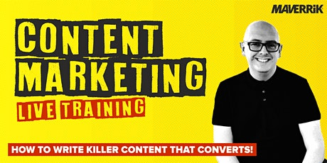How To Write Content That Converts - Live Training Tickets