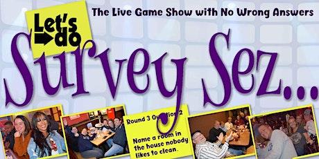 SURVEY SEZ in EASTON @ Washington Street Pub - Contact-Free! tickets