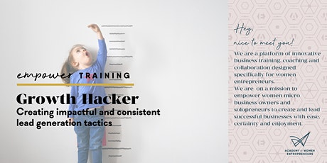 GROWTH HACKER – Creating impactful and consistent lead generation tactics tickets