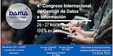 4o. Congreso Internacional de Gestión de Datos e información tickets