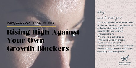 Rising High Against Your Own Growth Blockers tickets