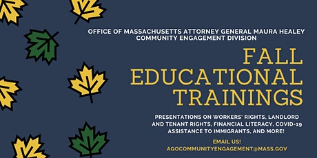 AG Healey's Fall Webinar Series tickets