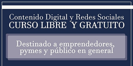 CURSO- CONTENIDO DIGITAL Y REDES SOCIALES entradas