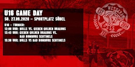 U16 Turnier mit Wetterau Bulls / Gießen GD und Bad Homburg Sentinels Tickets