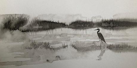 Introduction to Drawing –Landscape: Applying Chinese Brush biglietti