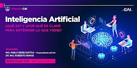 #PanelesCAI Inteligencia Artificial ¿qué es? entradas