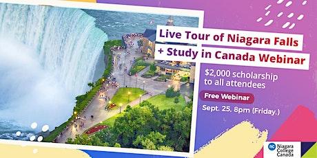 Live Tour of Niagara Falls + Study in Canada Webinar tickets