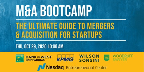 M&A Bootcamp: The Ultimate Guide to Mergers & Acquisitions for Startups tickets