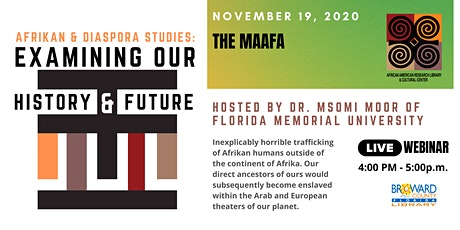 Afrikan Diaspora Studies: Examining Our History & Future - The Maafa tickets