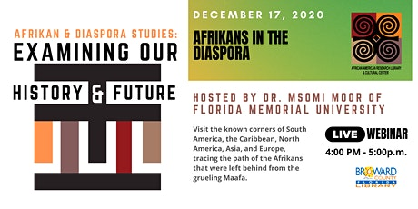 Afrikan Diaspora Studies: Examining Our History & Future - The Diaspora tickets