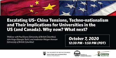 Escalating US-China Tensions & Implications for Universities tickets