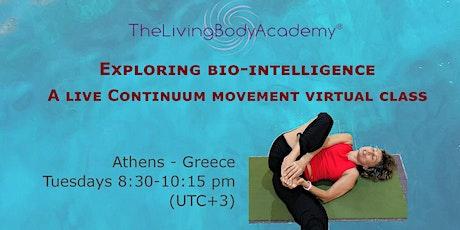 Exploring biointelligence 1 - A live Continuum Movement®  virtual class tickets