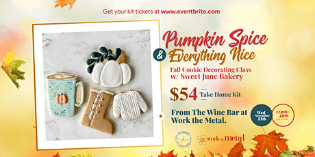 Fall Cookie Decorating Class w/ Sweet June Bakery tickets