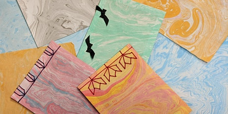 Japanese Marbled Paper and Stab Binding -  2 Sessions tickets