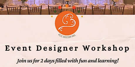 Event Draping & Designer Workshop - 2 days tickets
