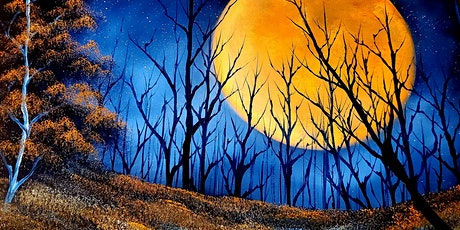 Happy Trees Art: Bob Ross Style Painting - Harvest Moon tickets