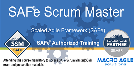 SAFe® Scrum Master with SAFe® 5 Scrum Master Certification-Virtual tickets