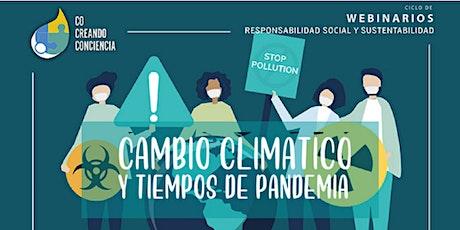 WEBINAR | Cambio Climático y tiempos de pandemia boletos