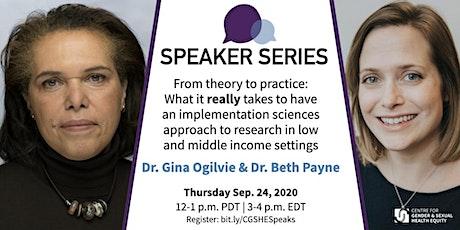 CGSHE Speaker Series | Dr. Gina Ogilvie & Dr. Beth Payne tickets