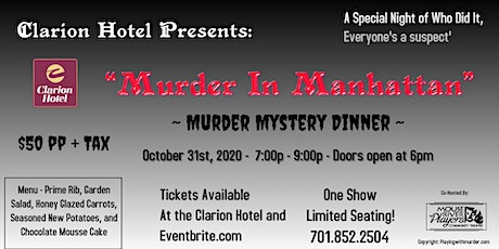 "Clarion Hotel Presents ""Murder In Manhattan"" Dinner Show tickets"