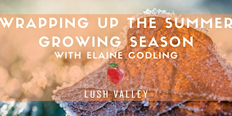 Wrapping up the Summer Growing Season with Elaine  Codling tickets