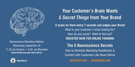 The 5 Neuroscience Secrets Every Business Needs to Know -ZOOM Webinar tickets