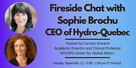 Fireside Chat with Sophie Brochu, CEO of Hydro-Quebec tickets