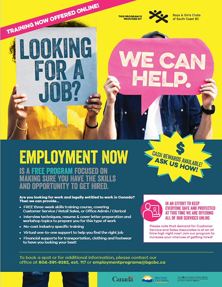 EMPLOYMENT NOW - A free 2-week online training program (Jan A) image
