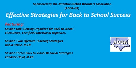 Effective Strategies for Back to School Success tickets