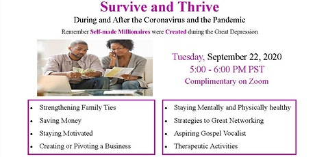 Survive and Thrive During and After the Coronavirus and the Pandemic tickets