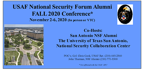 Fall 2020 USAF National Security Forum Alumni Conference tickets