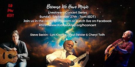Steve Seskin, Lyn Koonce, Paul Reisler Livestream Concert tickets