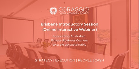 Coraggio Introductory Session, Brisbane (Online) tickets