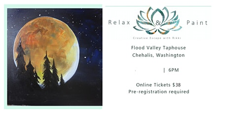 SOLD OUT! Harvest Moon paint and sip class at Flood Valley tickets