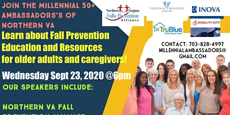 The Millennial 50+ Ambassadors of Northern VA- FREE ZOOM on Fall Prevention tickets