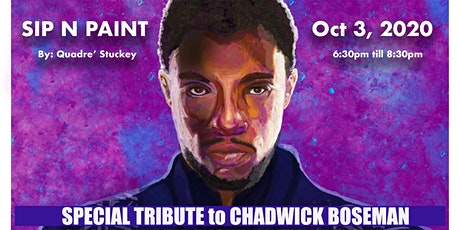 "Tribute to Chadwick Boseman Paint n Sip ""Wakanda Forever "" tickets"