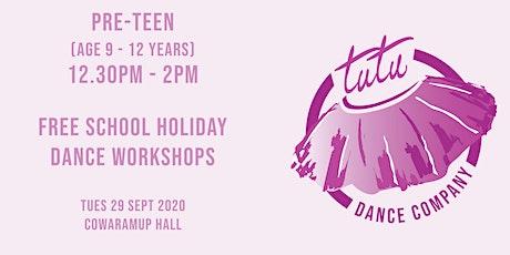 Pre-Teen Dance workshop tickets