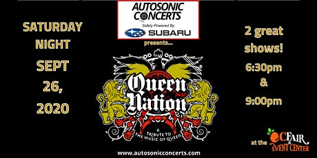 QUEEN NATION DRIVE-IN CONCERT AT THE OC FAIR & EVENT CENTER tickets
