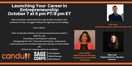College to Career: How to Break into Entrepreneurship / Startups tickets