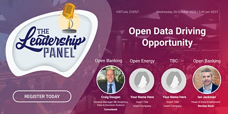 """The Leadership Panel - """"Open Data Driving Opportunity"""" tickets"""