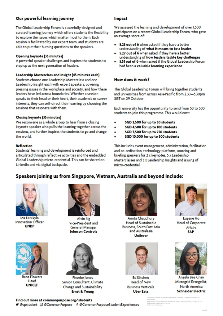 Global Leadership Forum Asia Pacific image