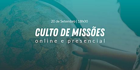 Culto de Missões - 20 de Setembro 18h00 ingressos