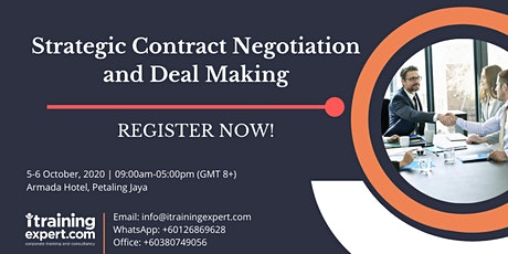 Strategic Contract Negotiation and Deal Making tickets