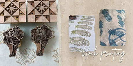 Block Printing with Baliza tickets